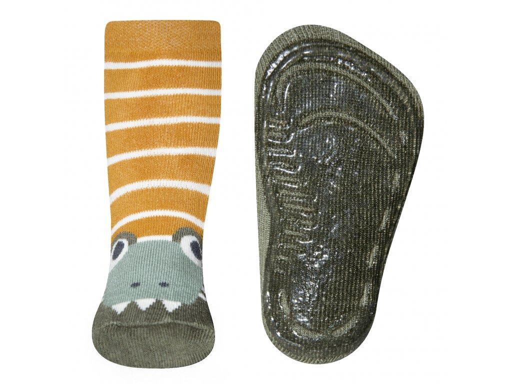 Protiskluzové ponožky Ewers s krokodýlem
