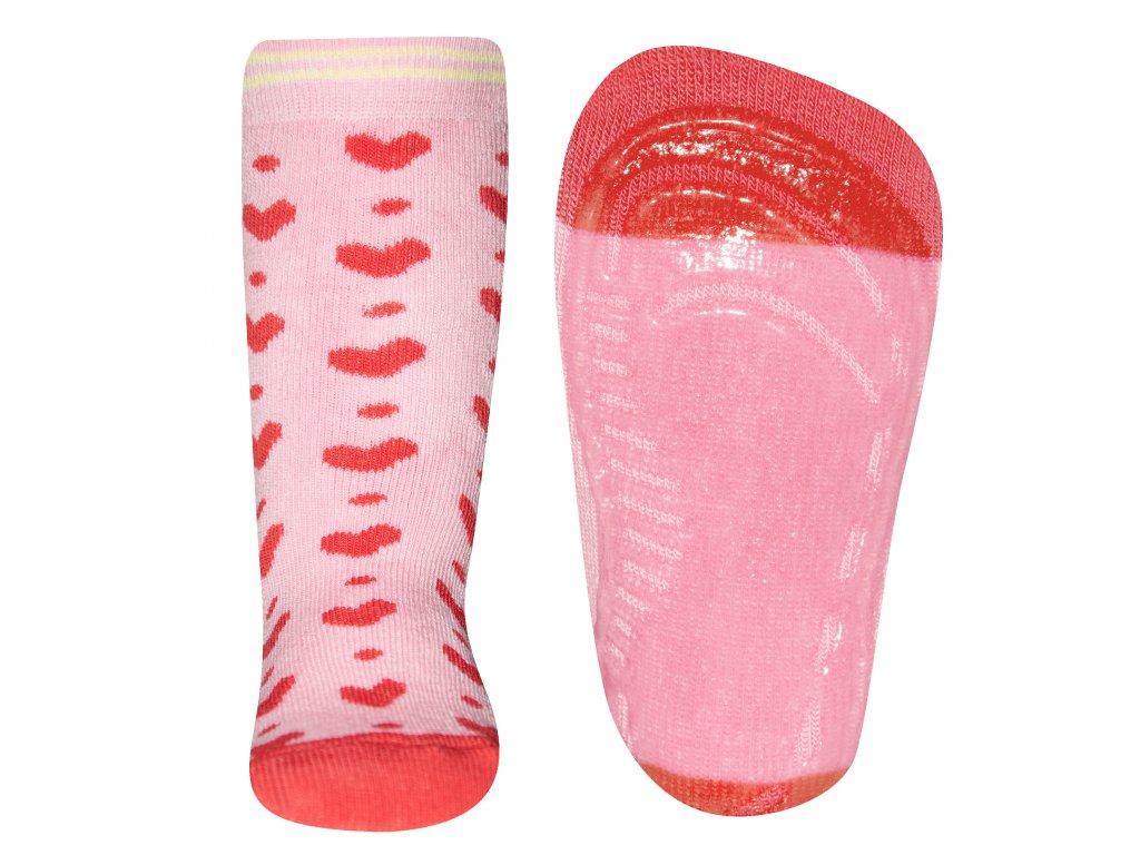 Protiskluzové ponožky Ewers se srdíčky