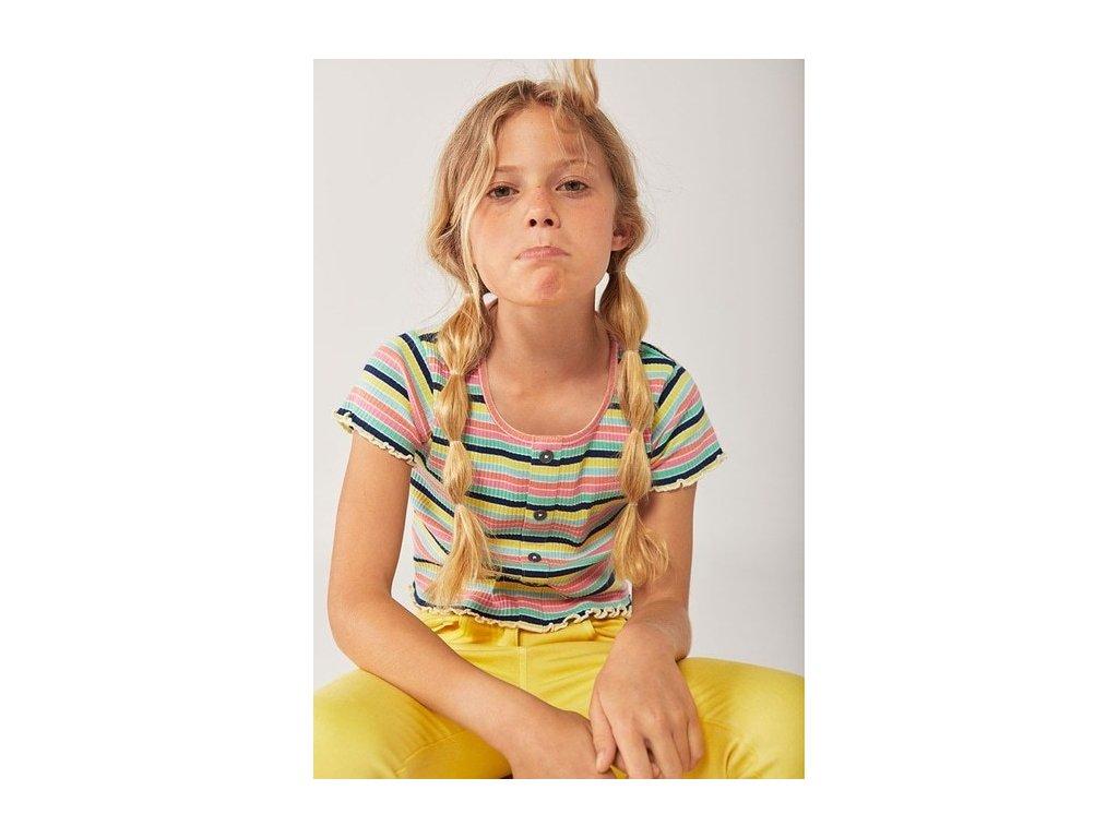 Dívčí různobarevné tričko boboli