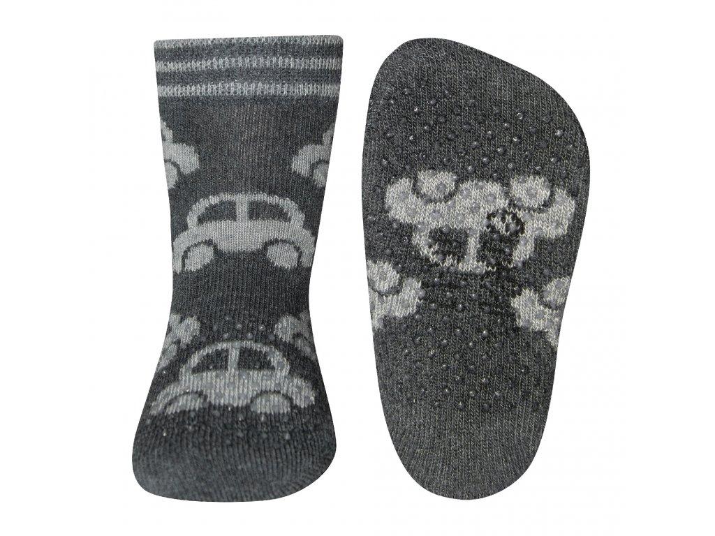 Protiskluzové ponožky s autíčky