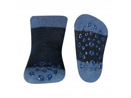 Protiskluzové ponožky modré