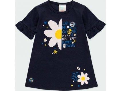 Dívčí šaty s květinovým potiskem Boboli