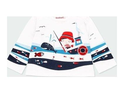 Tričko s rybářem pro chlapečka Boboli