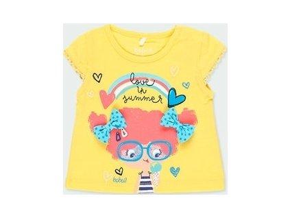 Dívčí žluté tričko Boboli