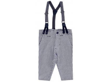 Bavlněné pruhované kalhoty s kšandami Jacky