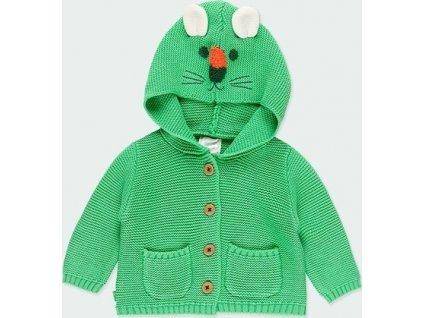 Pletená bunda s kapucí pro miminka Boboli