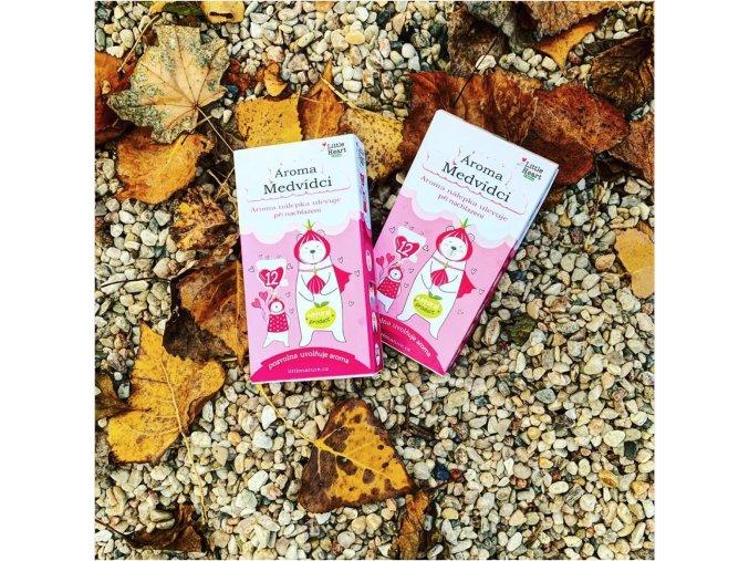 aroma terapie aroma medvidci esenciálníolej littlenature deti nachlazeni