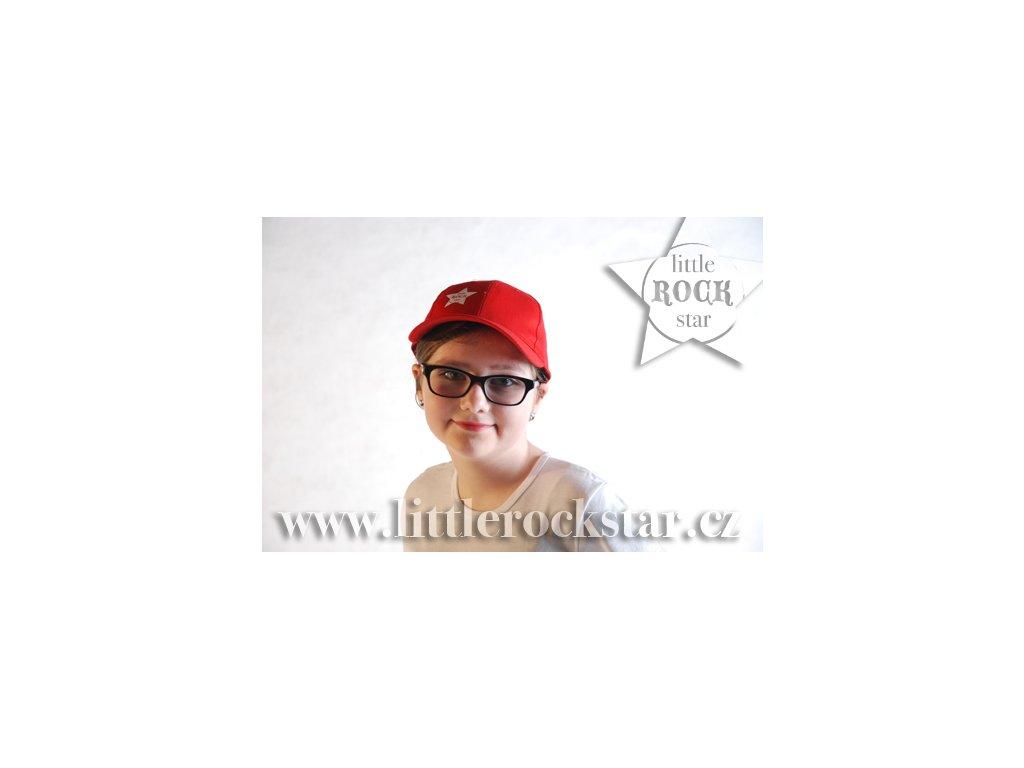 LITTLE ROCK STAR kšiltovka červená