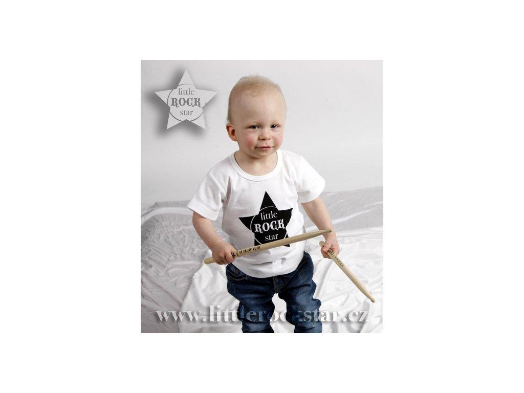 LITTLE ROCK STAR (triko bílé KR)