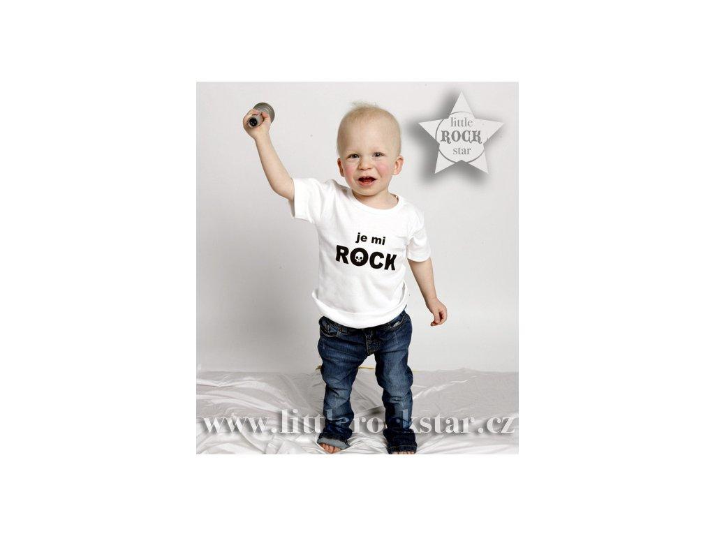 JE MI ROCK (triko bílé KR)