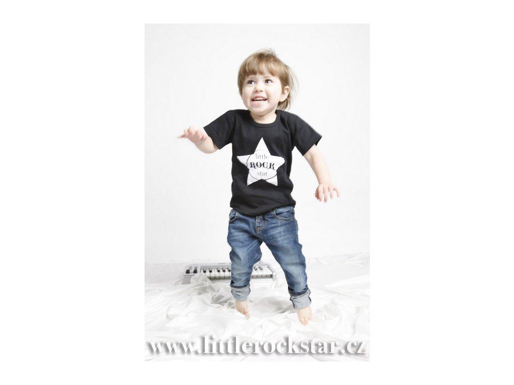 LITTLE ROCK STAR (triko černé KR)