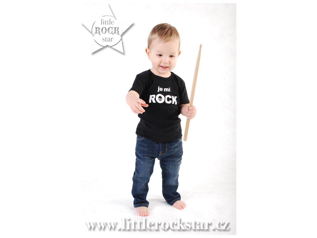 JE MI ROCK (triko černé KR)