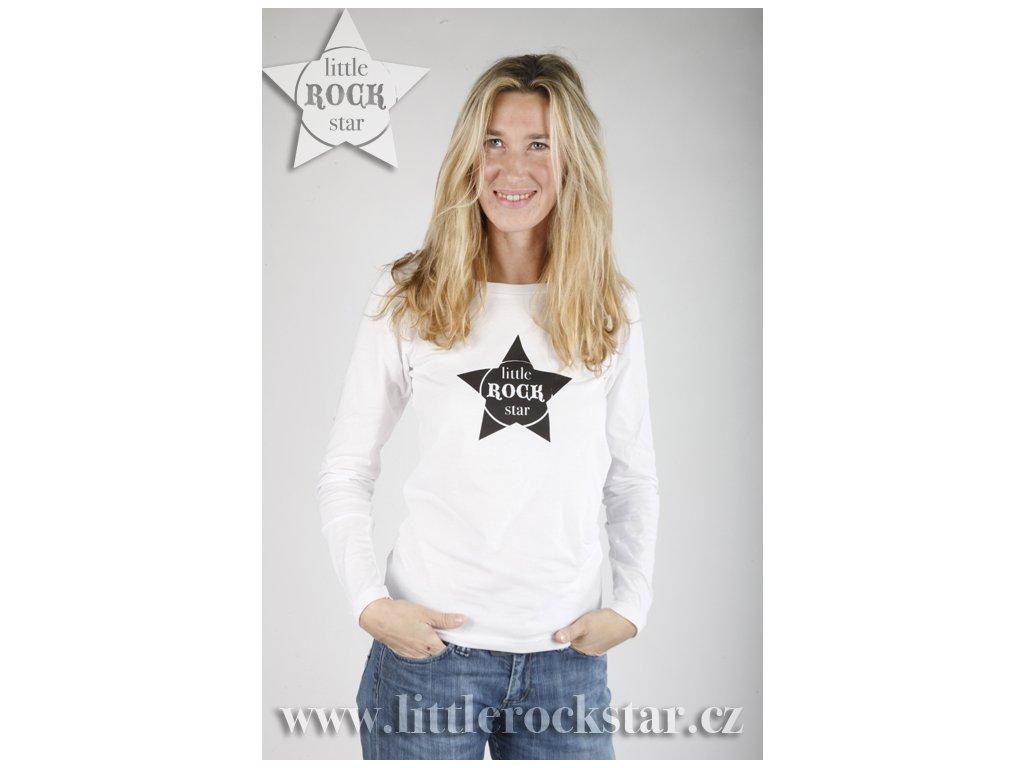 LITTLE ROCK STAR (triko dámské bílé)