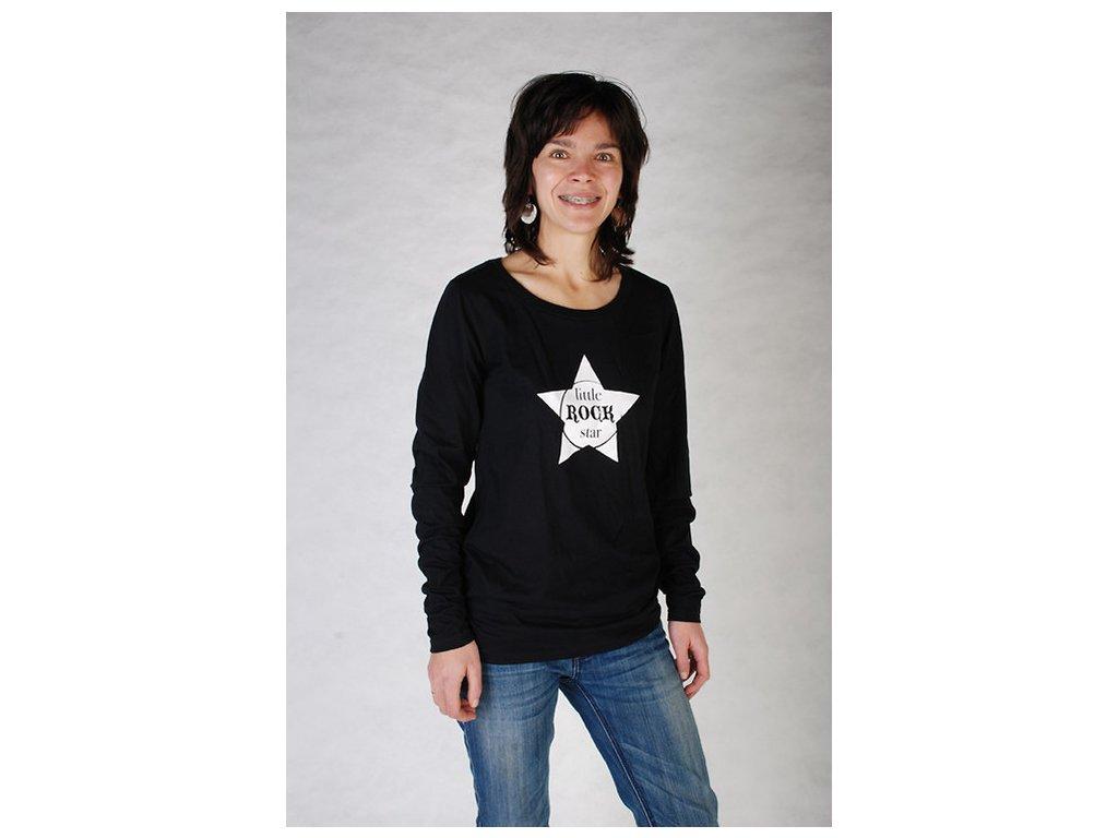 LITTLE ROCK STAR (triko dámské černé)