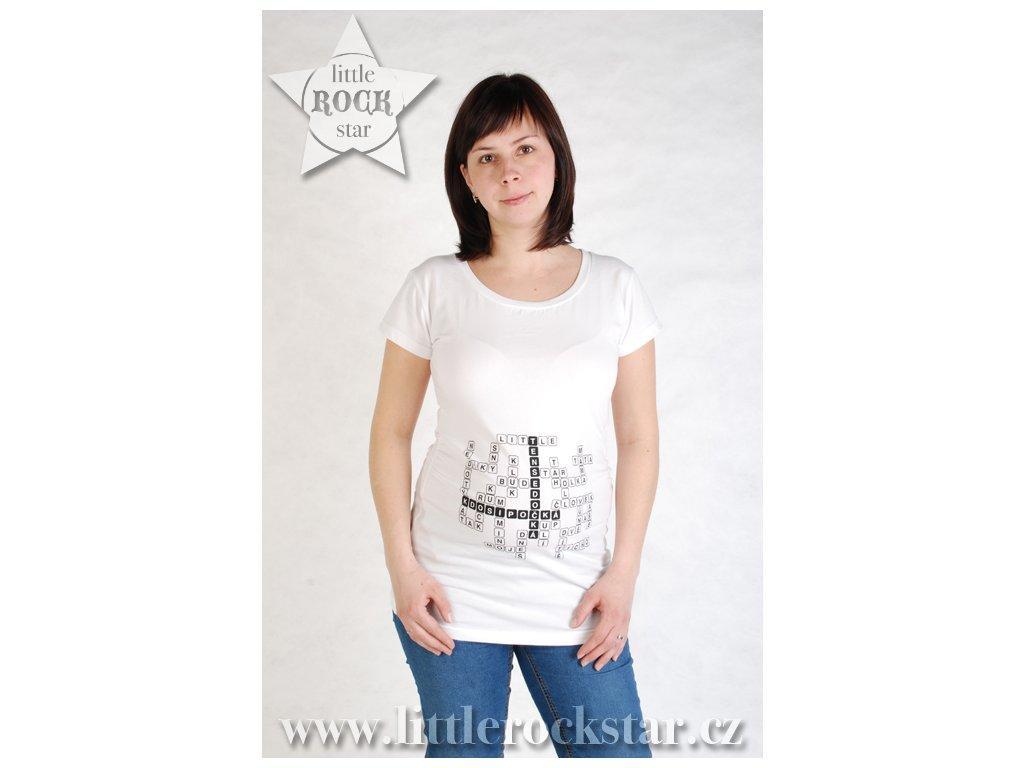 KDO SI POČKÁ, TEN SE DOČKÁ (těhotenské triko bílé)