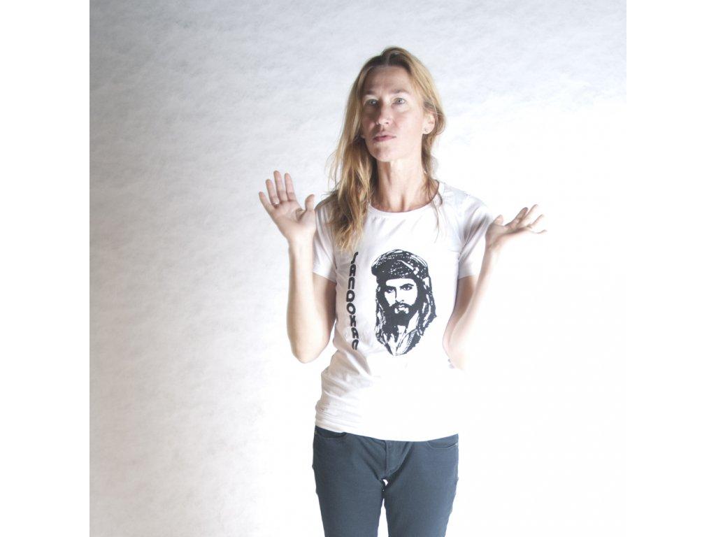 SANDOKAN (triko dámské bílé KR)