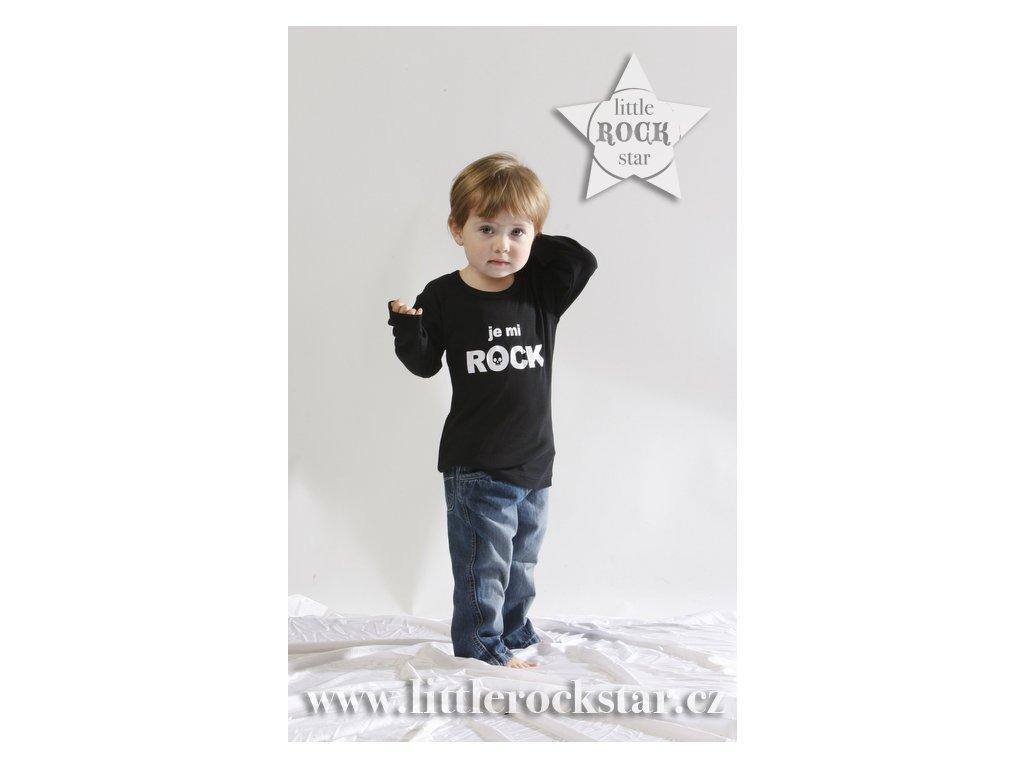 JE MI ROCK (triko černé DR)