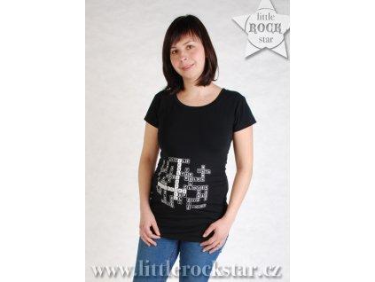 KDO SI POČKÁ, TEN SE DOČKÁ (těhotenské triko černé)