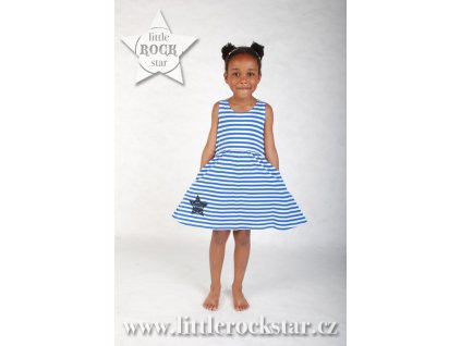 LITTLE ROCK STAR (šaty modré)
