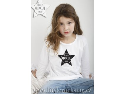 LITTLE ROCK STAR (triko bílé DR)