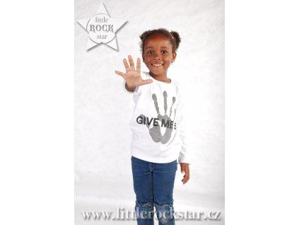 GIVE ME 5 (triko bílé DR)
