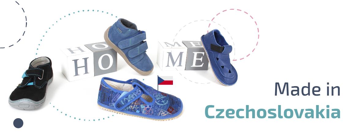 Barefoot boty vyrobené v ČR A SK