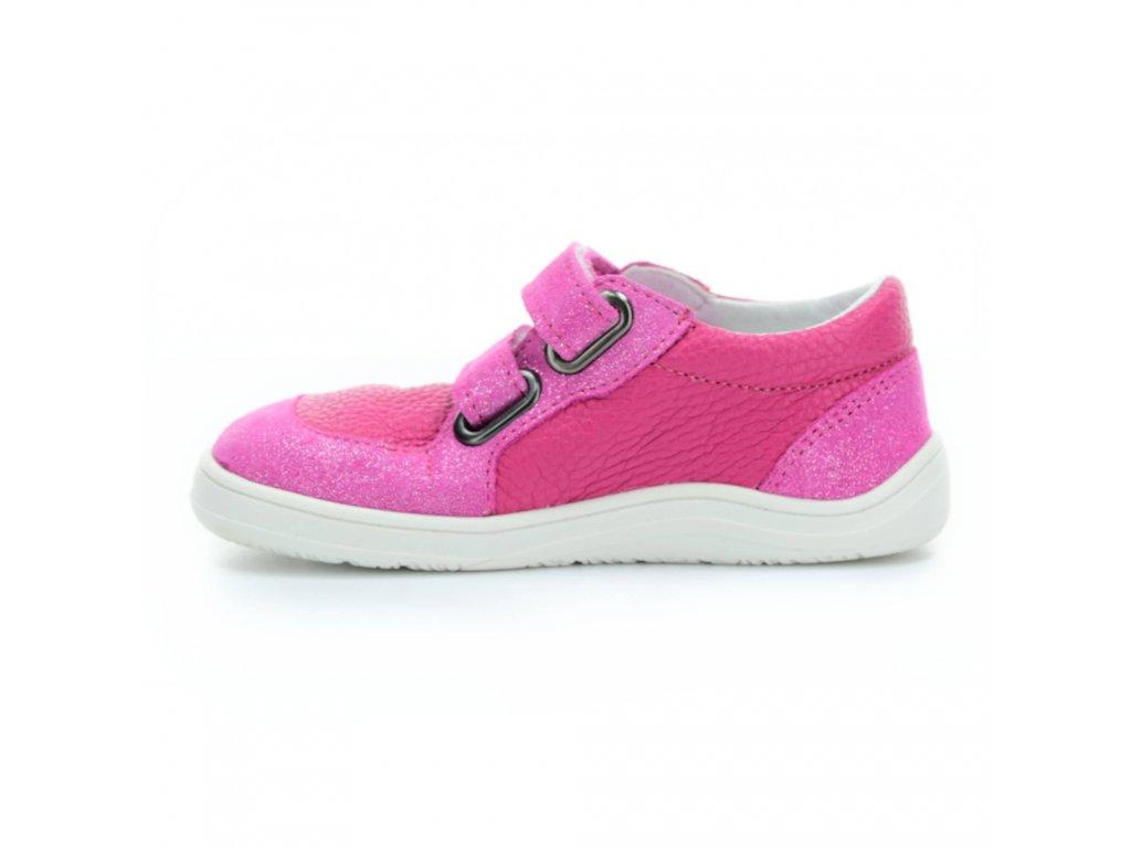 boty Baby Bare Shoes Febo Youth Fuchsia na bílé
