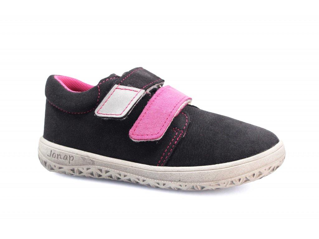 boty Jonap B1SV šedo-růžová SLIM