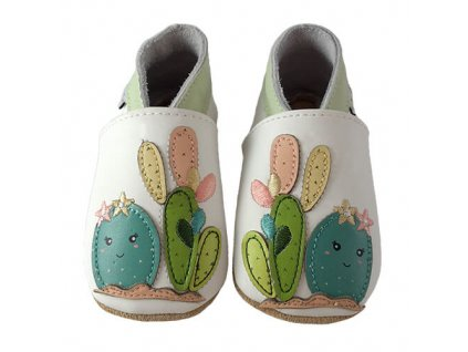 Chaussons cuir Cactus Front