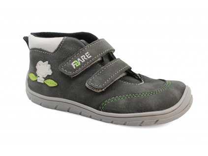 boty Fare B5421261 tm. šedé s ptáčkem kotníčkové (bare)