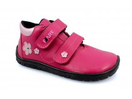 boty Fare B5516151 s membránou růžové s kytičkou (bare)