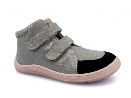 boty Baby Bare Febo Fall Grey/Pink třptivé asfaltico (s membránou)