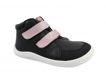 boty Baby Bare Febo Fall Black Pink asfaltico (s membránou)