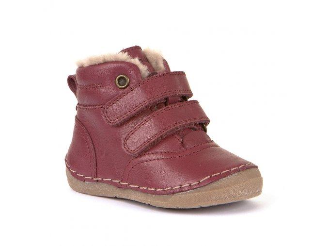 dětsék zimní kožené boty