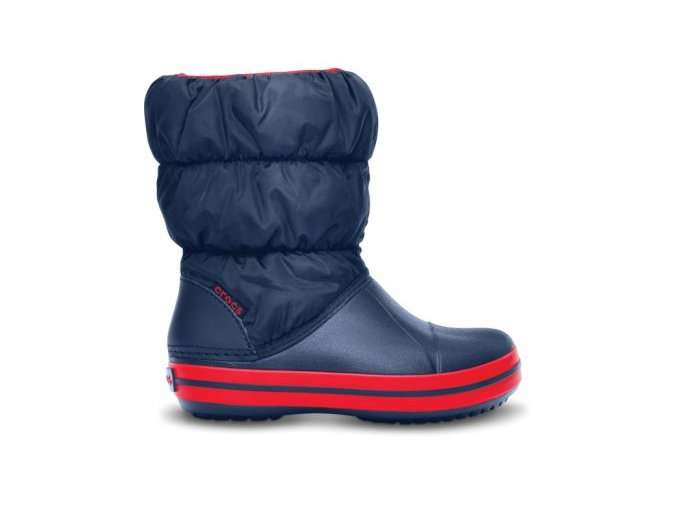14613 485 side winter puff boot kids navy red