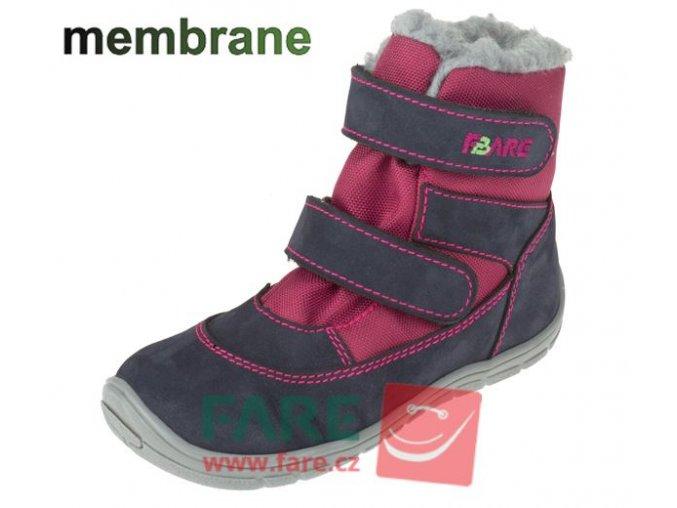 boty Fare 5141291 červené s membránou (bare)