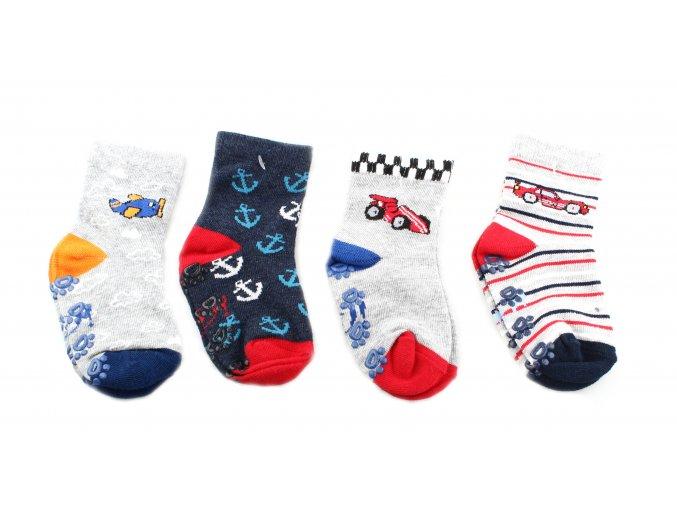 protiskluzové ponožky řidič, 4 páry (vel. 20-22)