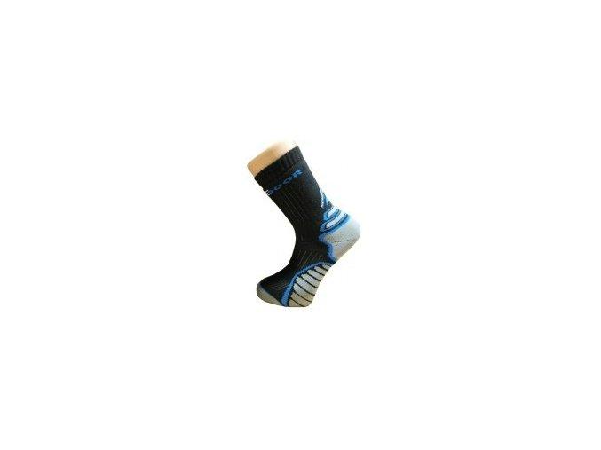 funkční ponožky outdoor trek černo-šedé