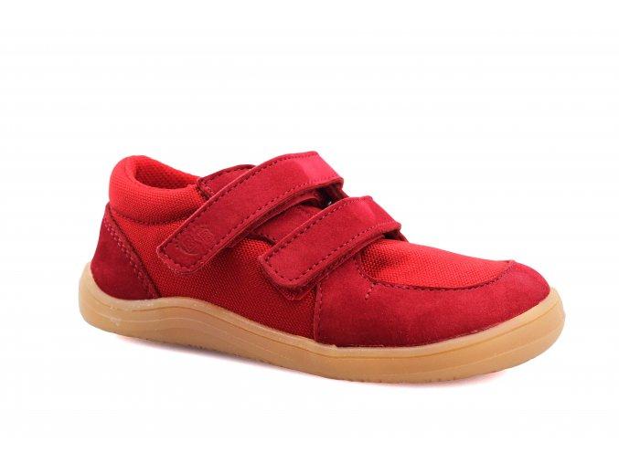 boty Baby Bare Shoes Febo Sneakers Red hnědá podrážka