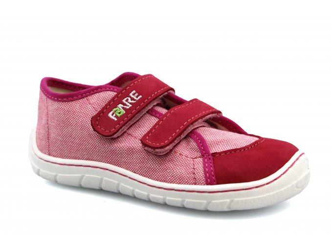 boty Fare 5115451 malinově růžové plátěnky (bare)