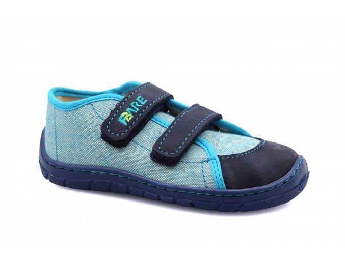 boty Fare A5115401 světle modré plátěnky (bare)