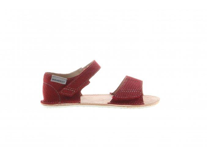 otevřené barefootové sandály