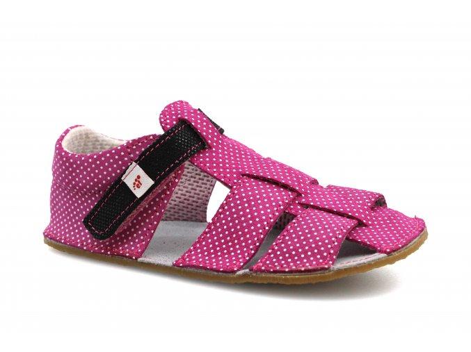 sandály Ef Růžová s černou