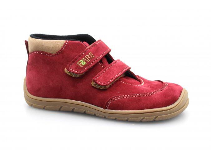 boty Fare 5121243 červené kotníčkové (bare)