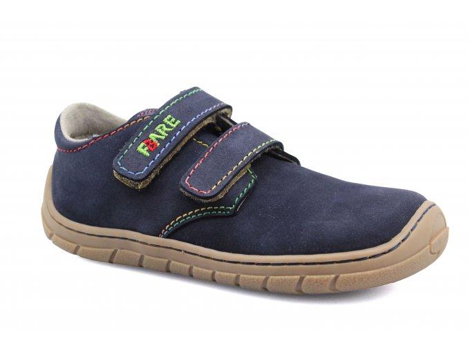 boty Fare B5413203 modré s duhovou nití (bare)