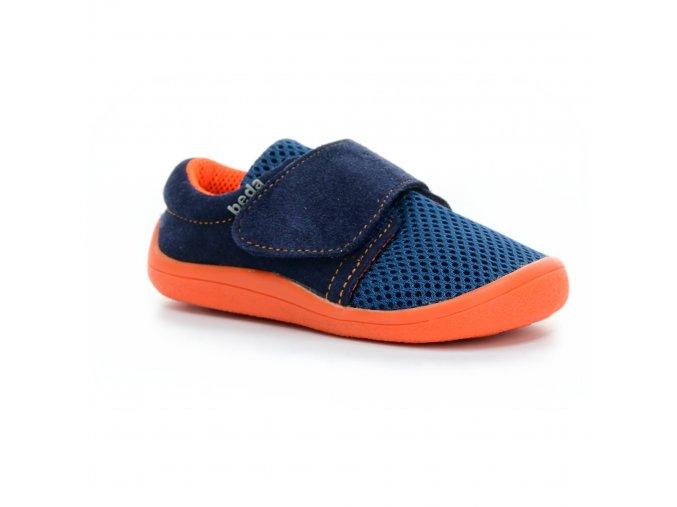 boty Beda Mandarine s opatkem (BF 0001/SK/1W/OP síťovina s kůží)