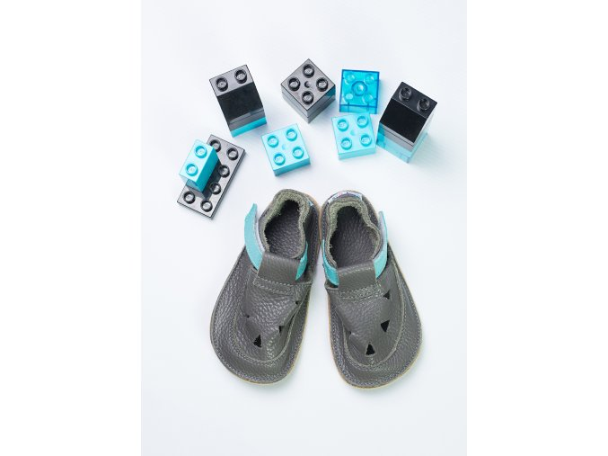 sandály/bačkory Baby Bare IO Blue Beatle - TS