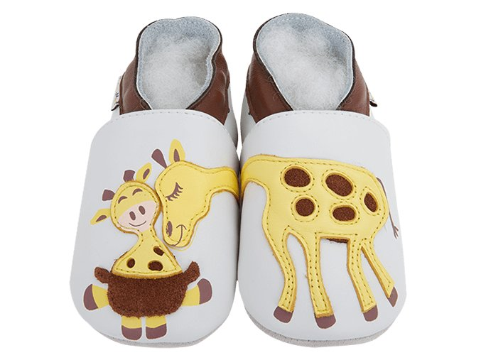 Chaussons cuir Girafe Front 2