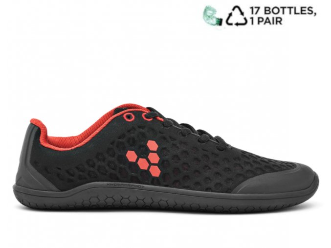 Vivobarefoot stealth black red pet