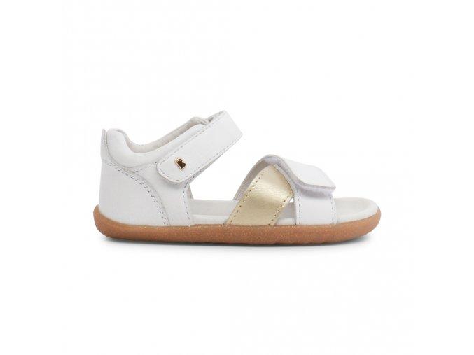 bob sandály White + Gold Sail